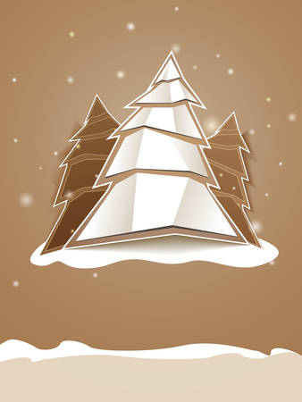 Folded paper Christmas tree Stock Vector - 8333678