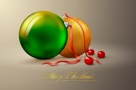 Christmas decoration balls | on separate layers