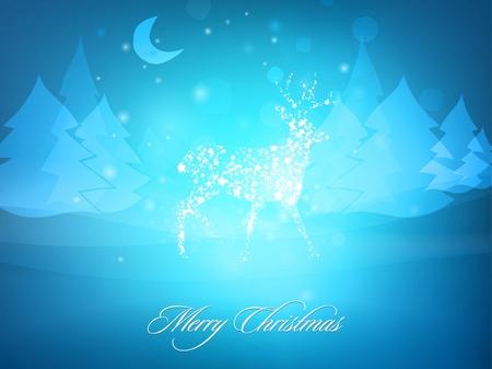 Christmas deer greeting card design