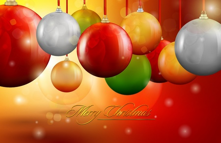 Christmas decoration balls | editable vector graphic