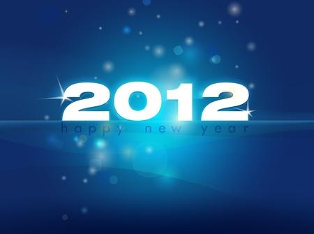 2012 New Year card illustration