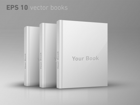 stack of documents: Blank books presentation