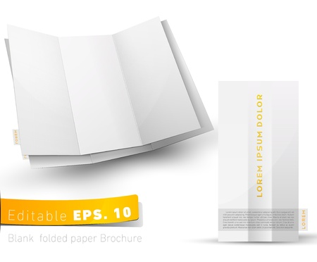 Blank folded brochure for your design presentation Vector