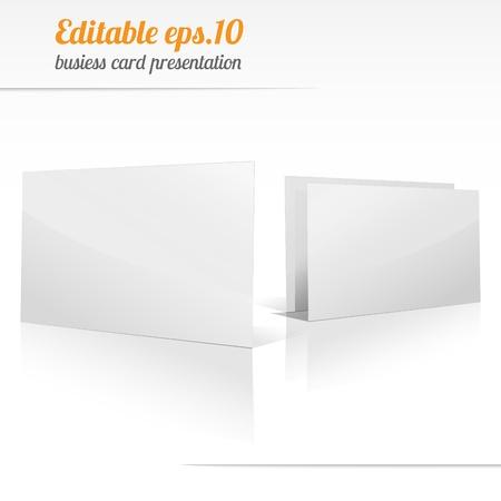 Blank business card presentation