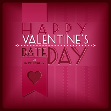 pinky: Valentine s day pinky greeting card Illustration