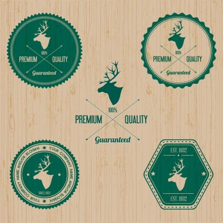 Animal Deer badge  Illustration