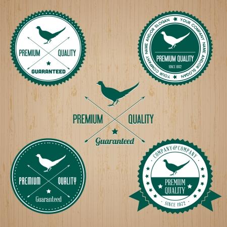 Animal Pheasant badge - editable vector Illustration