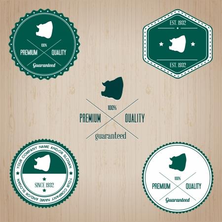 Animal Pork badge - editable vector