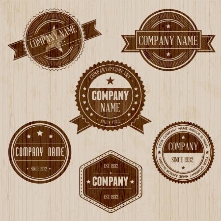 Vintage badge set