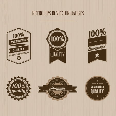 Vintage badges Illustration