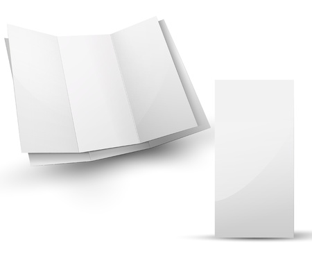 Blank folded brochure for your design presentation Stock Photo