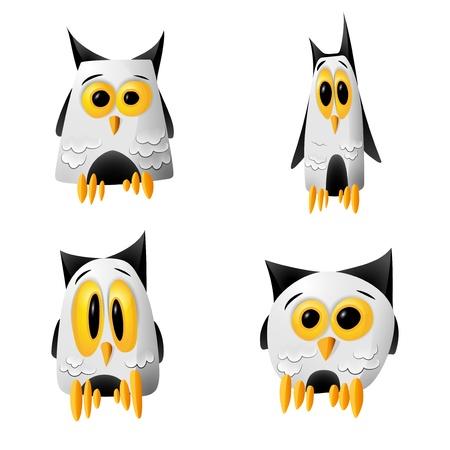 Funny Cartoony night owls