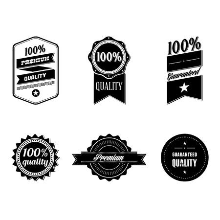 Vintage badges Stock Photo