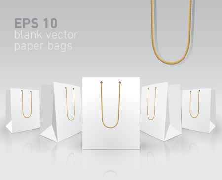 Blank carrier paper bags for your presentation Illustration