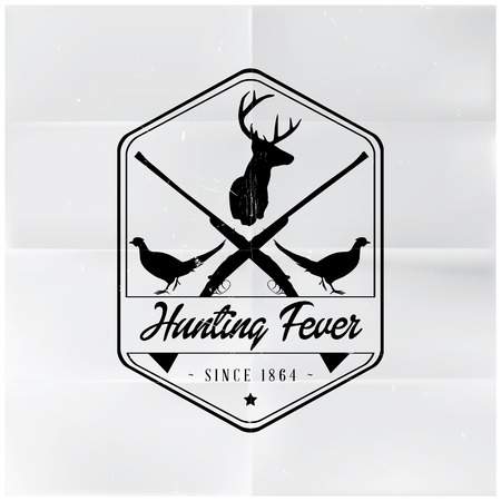Hunting Fever Badge Vector