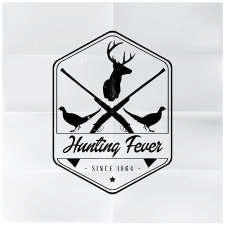 Hunting Fever Badge Illustration