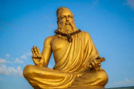 mamallapuram: India, Thiruvalluvar Statue Stock Photo