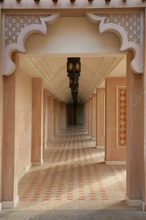 islamic wonderful: Arabian style artistic aisle in Madinat Jumeirah