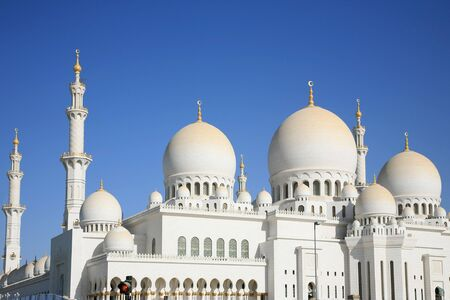 islamic wonderful: Sheikh Zayed Mosque is the Largest in U.A.E. Stock Photo