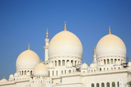 islamic wonderful: Grand Mosque Abu Dhabi U.A.E. Stock Photo