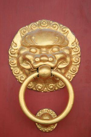 Lions Face Doorknob  photo