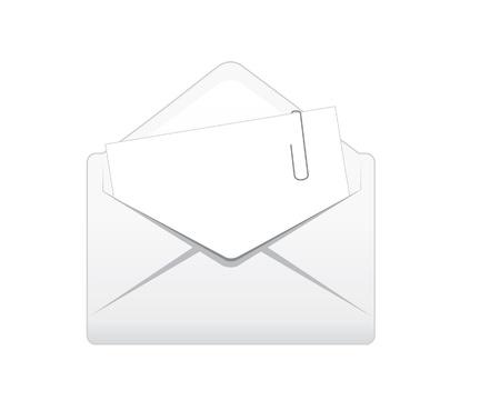 attachment: Open envelope with attachment