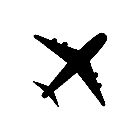 Plane icon vector, solid logo illustration, pictogram isolated on white vector illustration  イラスト・ベクター素材