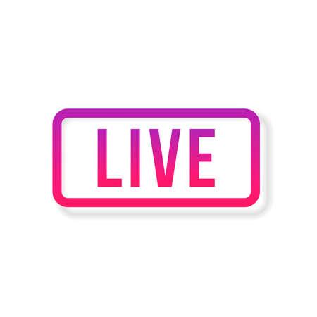 Live Stream sign, emblem, logo. Vector Illustration. Social media icon live streaming