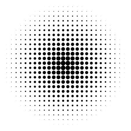 Halftone circle vector logo symbol, icon, design. abstract dotted globe illustration isolated on white background.