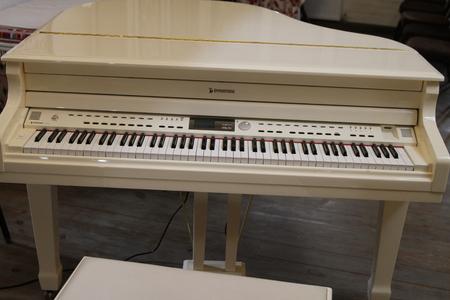 Close up piano key white classical piano. Editorial