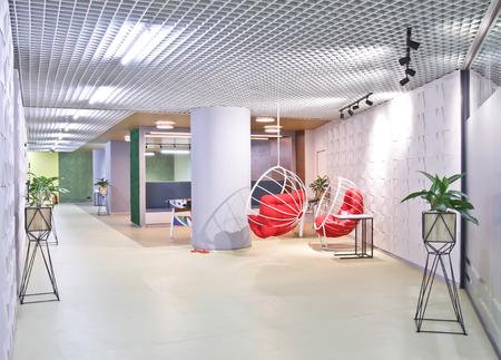 Lounge area in a modern office. Interior design. Outboard chair. Archivio Fotografico