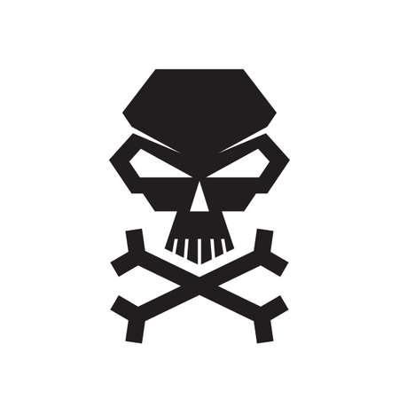 Skull and crossbones - concept logo icon design. Death creative sign.