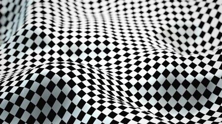 Abstract Morphed Checker Surface with Depth of Field Effect - 3D Illustration Stockfoto