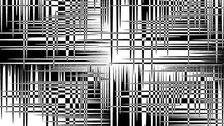 Black and White Psychedelic Perpendicular Background- Illustration