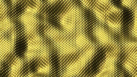 Abstract Morphing Golden Surface - 3D rendering