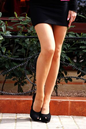 beautiful legs of the young girl  photo