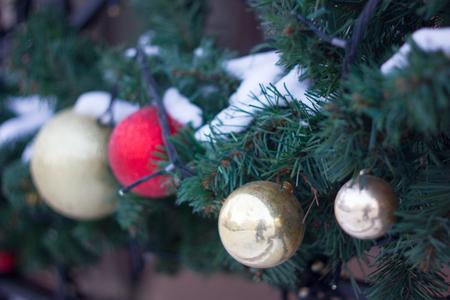 plaything: Christmas decoration on street
