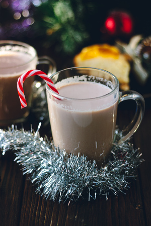 Milk and egg punch ready for christmas celebration