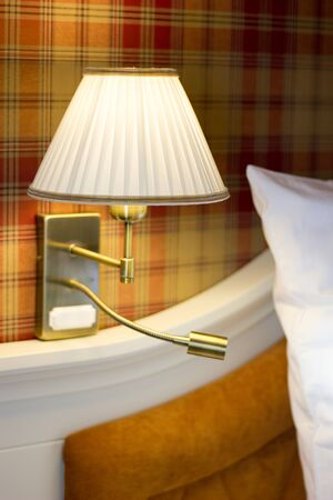 Wall lamp in bedroom. Stock Photo - 92293541