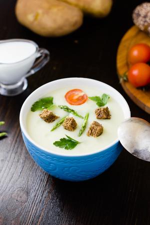 Cream soup of asparagus