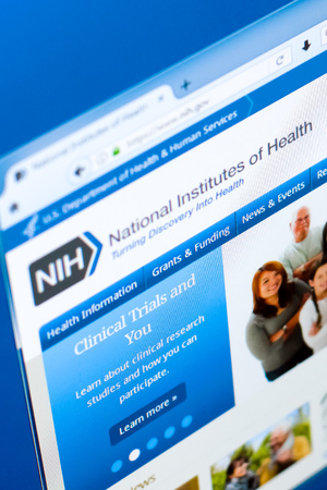 Ryazan, Russia - March 28, 2018 - Homepage of National Institute of Health on a display of PC, web adress - nih.gov