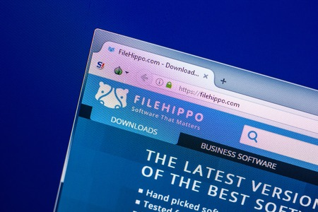 Ryazan, Russia - April 29, 2018: Homepage of Filehippo website on the display of PC, url - Filehippo.com.