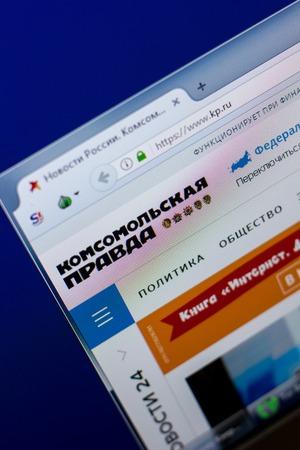Ryazan, Russia - May 08, 2018: KP website on the display of PC, url - KP.ru