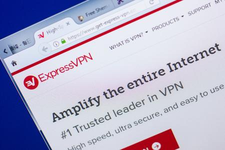 Ryazan, Russia - May 13, 2018: Get-express-vpn website on the display of PC, url - Get-express-vpn.com Editorial
