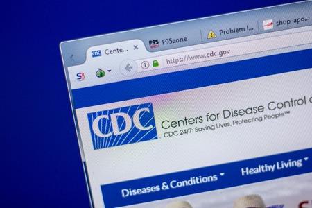 Ryazan, Russia - June 05, 2018: Homepage of CDC vwebsite on the display of PC, url - CDC.gov