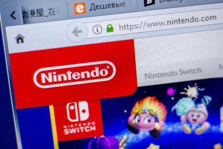 Ryazan, Russia - June 05, 2018: Homepage of Nintendo website on the display of PC, url - Nintendo.com