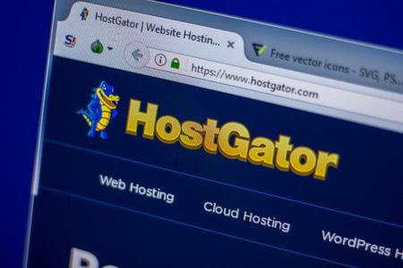 Ryazan, Russia - June 05, 2018: Homepage of HostGator website on the display of PC, url - HostGator.com Editorial