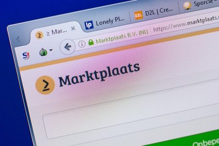 Ryazan, Russia - June 16, 2018: Homepage of Marktplaats website on the display of PC, url - Marktplaats.nl Editorial