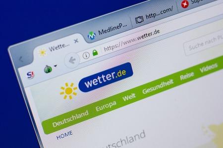 Ryazan, Russia - June 17, 2018: Homepage of Wetter website on the display of PC, url - Wetter.de Standard-Bild - 110804365