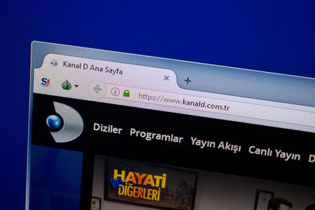 Ryazan, Russia - June 26, 2018: Homepage of Kanald website on the display of PC. URL - Kanald.com.tr 新聞圖片